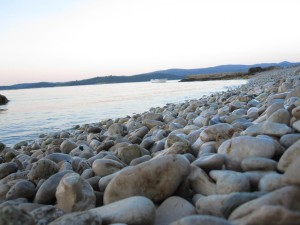 Smooth rocky beach Orebic